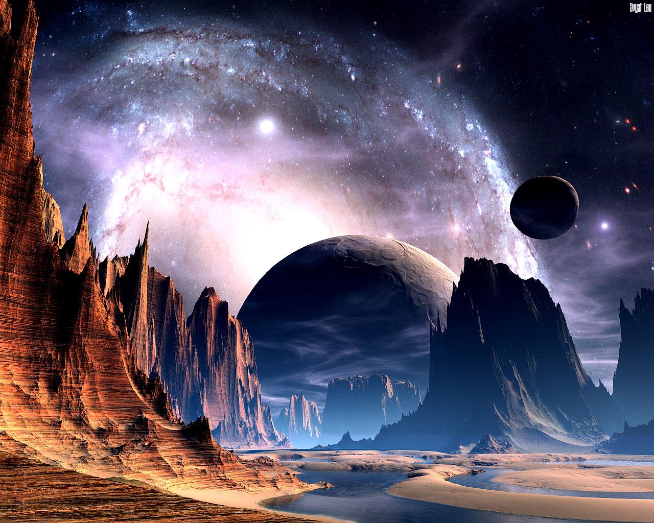 пейзажи космические картинки